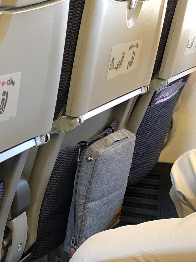 座席💺シートポケットが小さくても👌