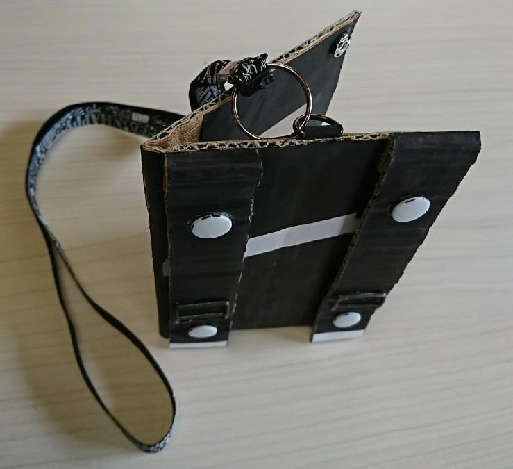 【画期的パスポートケース】試作品・段ボール製